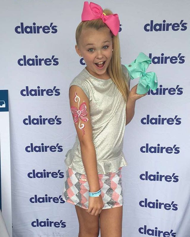 JoJo's bows are now available at Claire's as of 6/15/16!!!