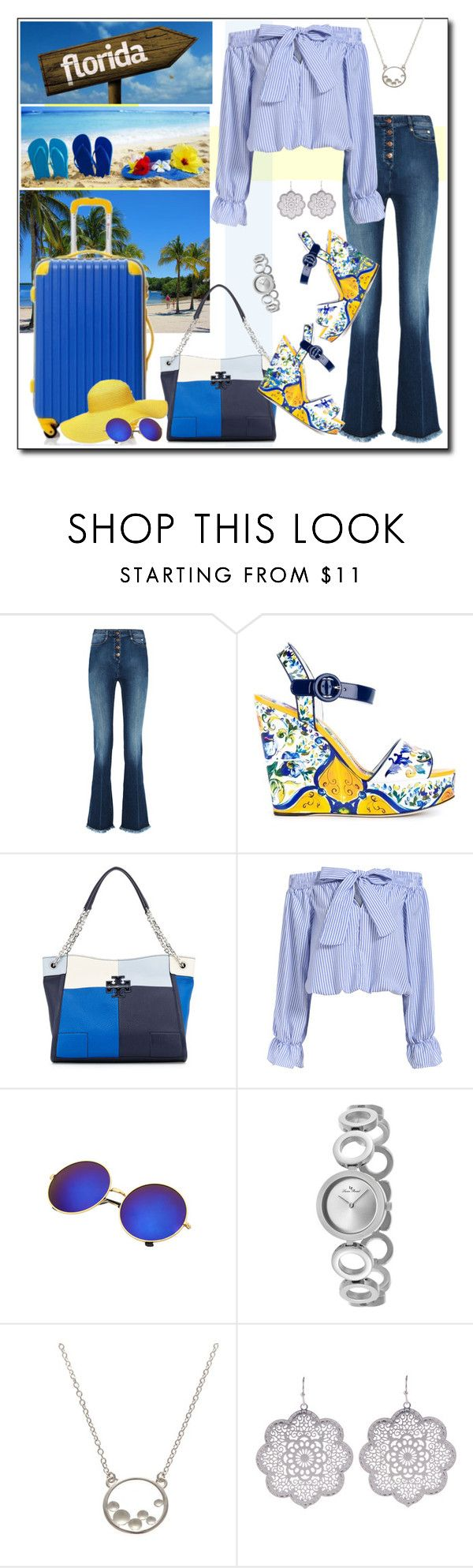 """""""Pack and Go: Winter Getaway to Florida"""" by court8434 ❤ liked on Polyvore featuring Sonia Rykiel, Dolce&Gabbana, Tory Burch, Lucien Piccard and Packandgo"""