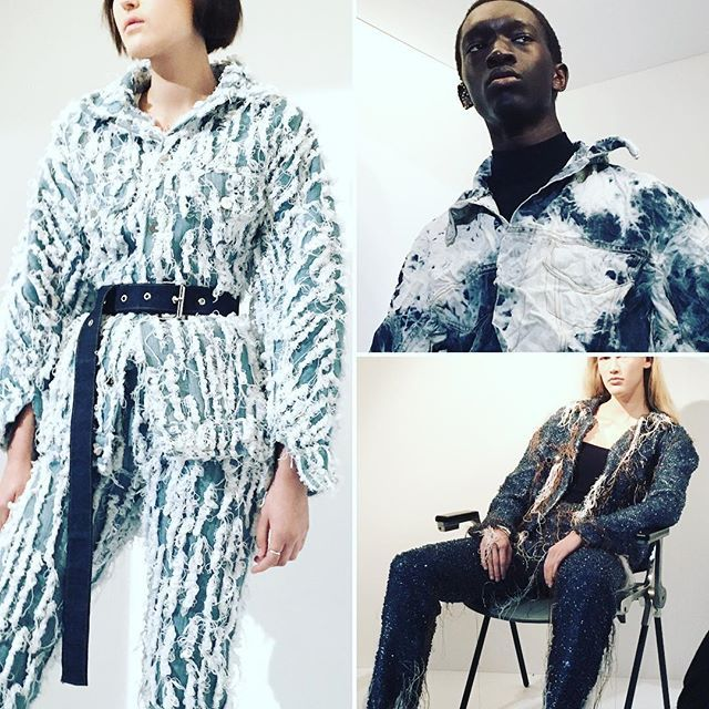 @faustinesteinmetz #denim in many exciting and innovative forms #londonfashionweek #london #lfwaw17 #lfw by @deborahlatouche  via ELLE ITALIA MAGAZINE OFFICIAL INSTAGRAM - Fashion Campaigns  Haute Couture  Advertising  Editorial Photography  Magazine Cover Designs  Supermodels  Runway Models