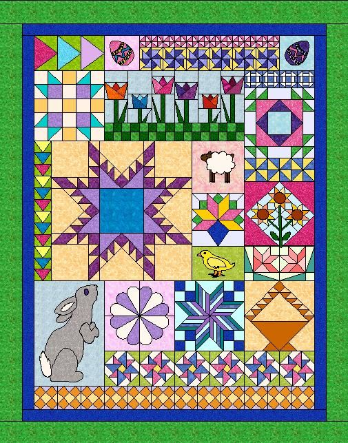April 2014: Block of the Month from the Uncommon Threads Quilt Guild.