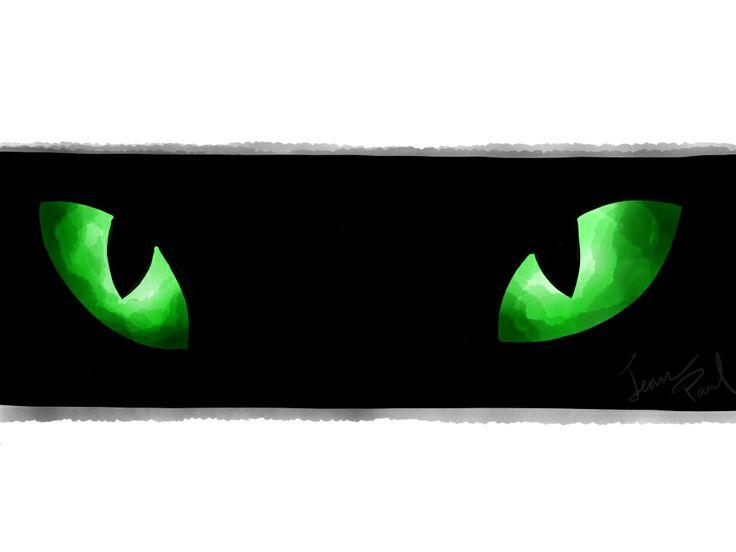 Esmeraldas, cat eyes. Paper by FiftyThree app.