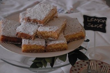 Crunchy tangy lemon slice, made with homemade lemon butter - all natural!