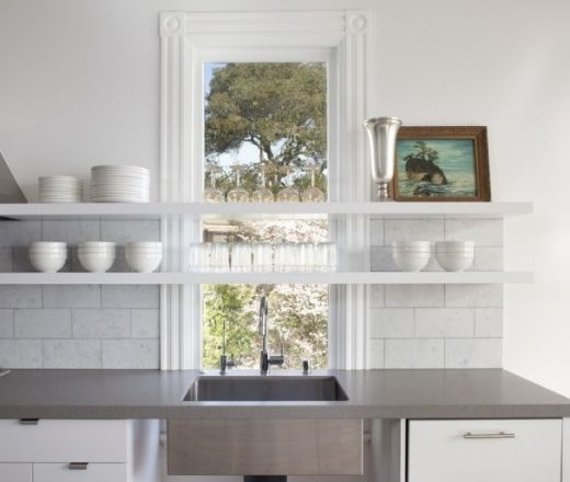 Kitchen Shelves Either Side Of Window: Float Shelves Over Kitchen Sink Window?