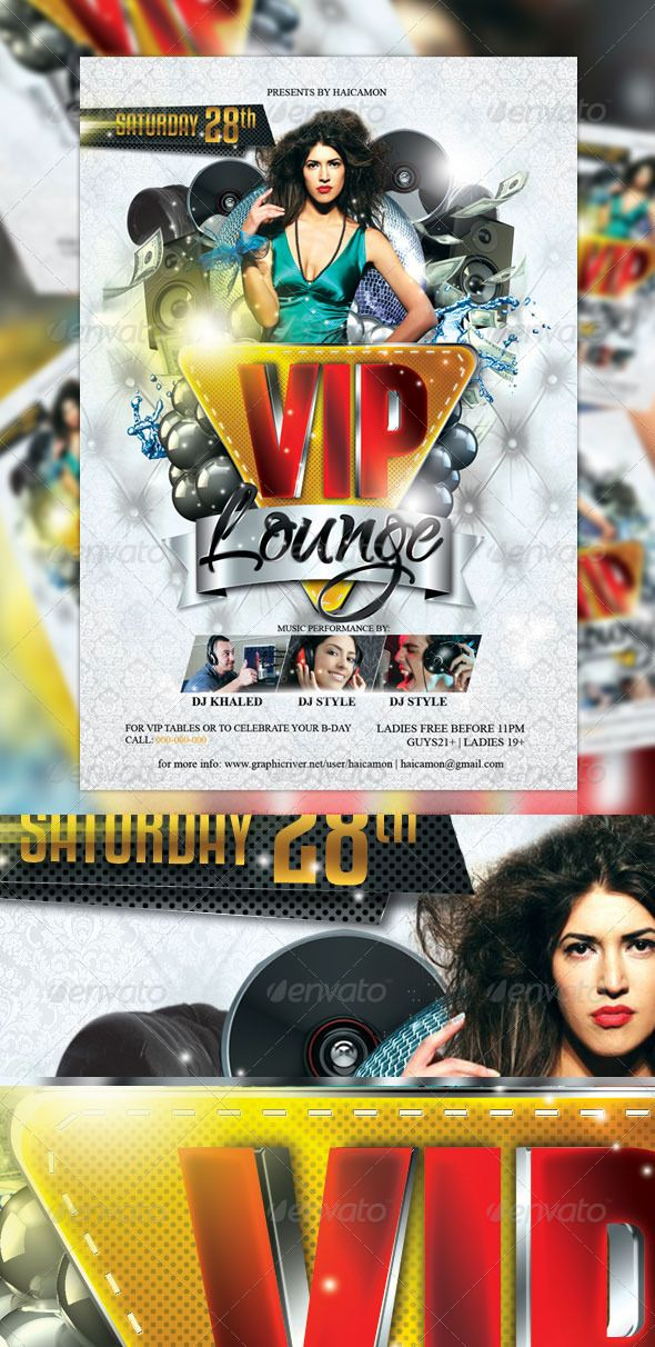 VIP Lounge Party Flyer