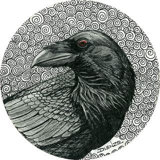 crow illustrations gothic - Google Search