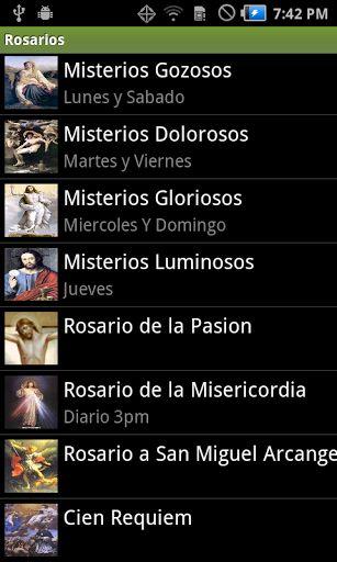 Only spanish for now...<br>Ahora es capaz de leer cada uno de los textos, <br>con eso se ahorra mas memoria. <br>Para una proxima version insertare audio <br>y traducire todo al ingles, despues portuguez.<p>En esta Aplicación encontrarás:<p>Los Misterios Gozosos (Bíblico)<br>Los Misterios Dolorosos (Bíblico)<br>Los Misterios Gloriosos (Bíblico)<br>Los Misterios Luminosos (Bíblico)<br>(Letanias incluidas en los rosarios)<br>Rosario a la Sangre De Nuestro Señor Jesucristo<br>Rosario de la…