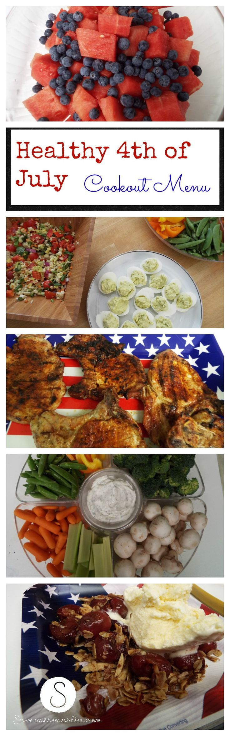 Healthy Fourth of July Cookout Menu !!!