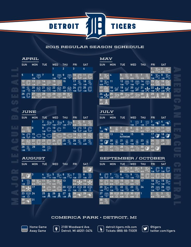 2015 Detroit Tigers schedule