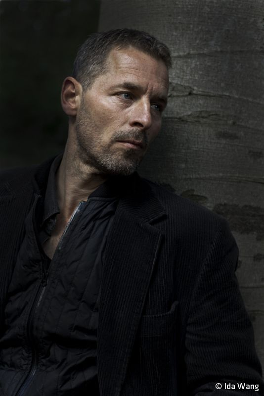 Danish actor Mikael Birkkjær (b. 1958) © Photo by Ida Wang Photo, male actor, celeb, powerful face, intense eyes, cute, macho, sexy, steaming hot, portrait, photo