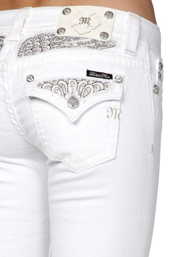 MISS ME JEANS SALE BUCKLE Low Rise White Sequin Skinny Stretch Jean 31 X 32  # - Die Besten 25+ Miss Me Jeans Sale Ideen Nur Auf Pinterest