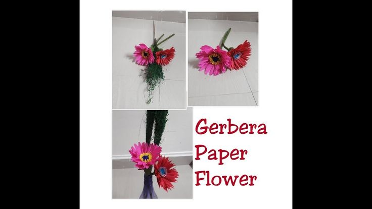 How to make Easy Gerbera Flower from Crepe Paper