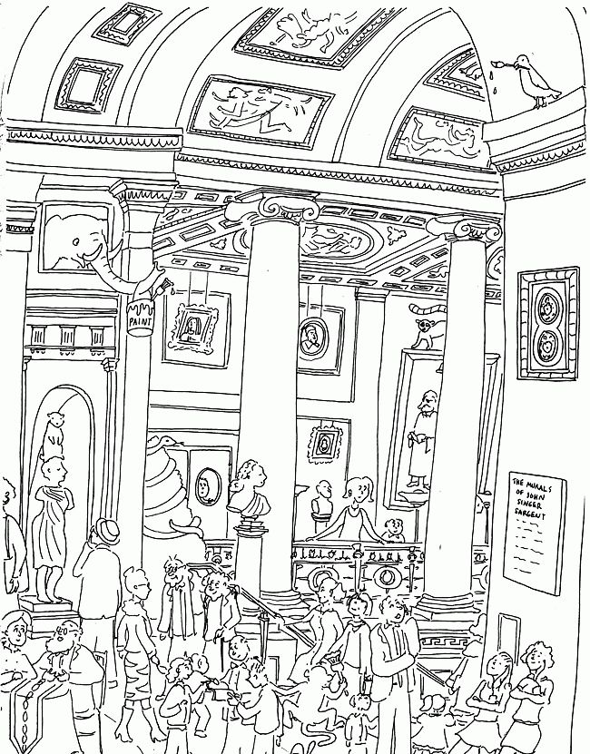 Музеи рисунок картинки