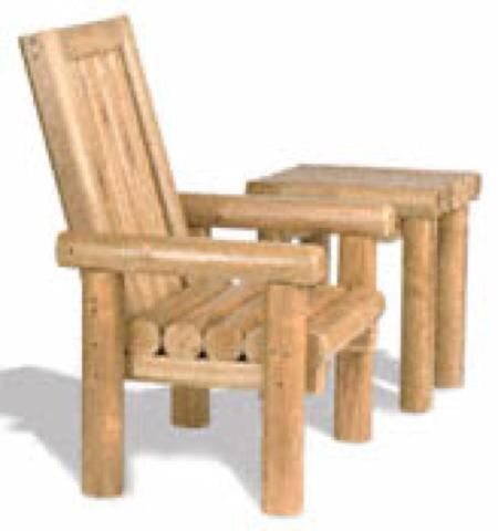 Landscape Timber Chair Plans - WoodWorking Projects & Plans