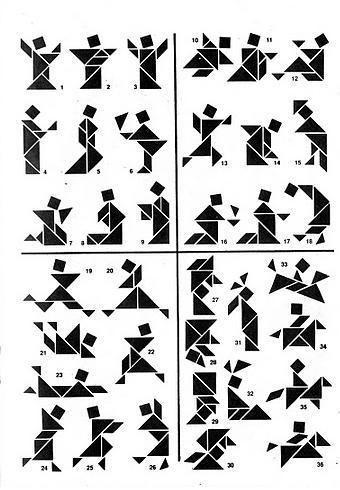 Soluciones Tangram 200 figuras