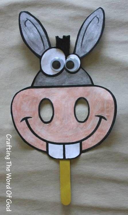 Balaam's donkey mask #craft
