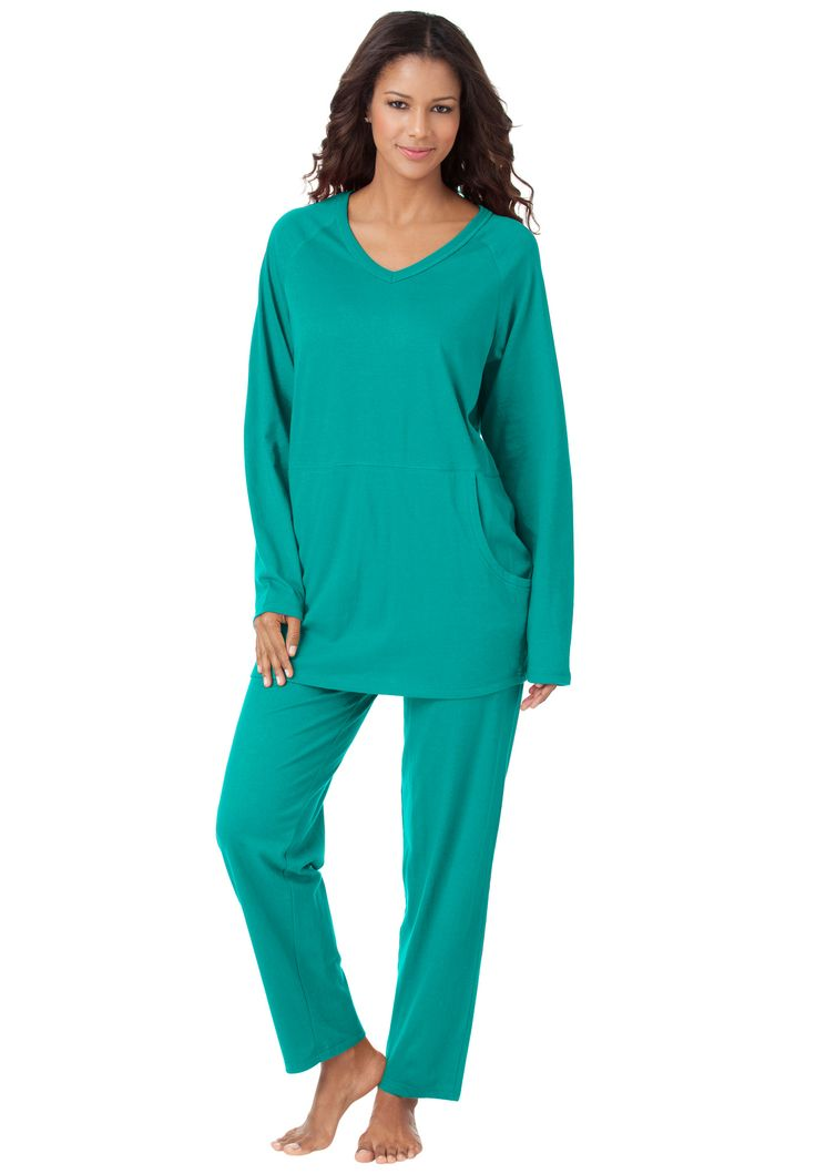 Lounger Pantset By Only Necessities® | Plus Size Pajamas   Sets | Roamans