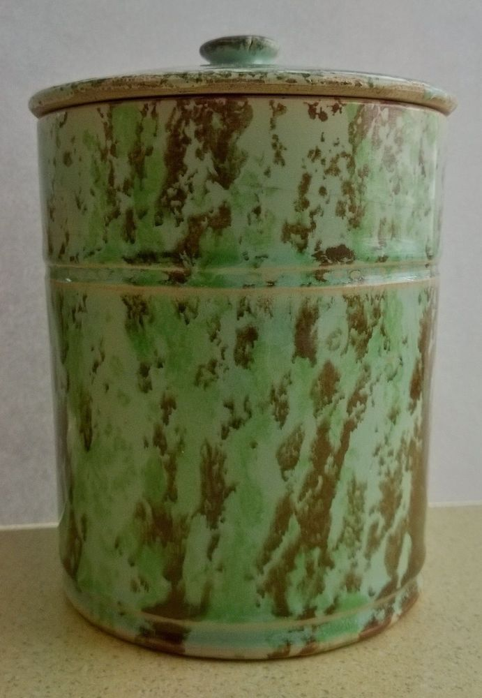 Lovely Rare Antique Buchan Portobello Pottery Stoneware Tobacco Jar