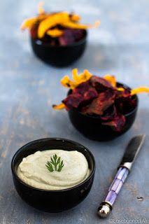 CosebuonediAle: salsa di anacardi con chips di barbabietole e caro...