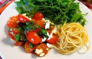 Recept  Jaarrond  Scampi's   Tomaat  Feta