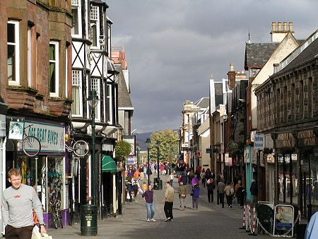 High Street, Fort William, Scotland. Quaint and fun.