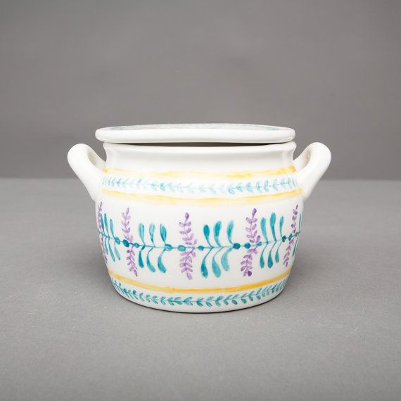 arabia jam bowl with lid finland collectible by northvintage, $49.00