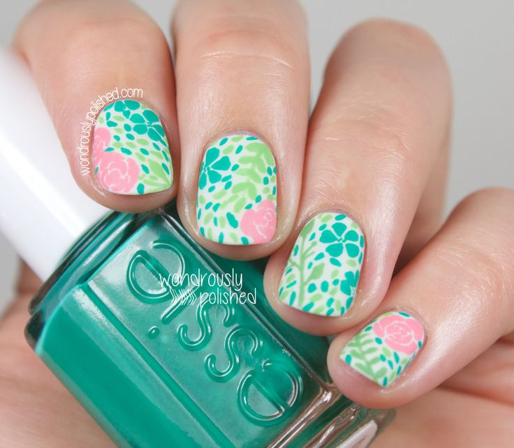 Kick-ass mani! Not stamped, free-handed! :o