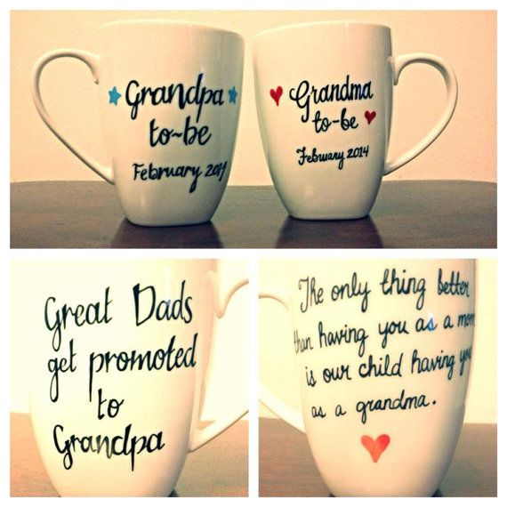 Grandparents Mugs cute idea for our parents..