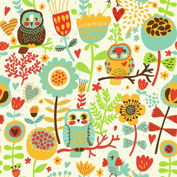 OwlsBuhos kids nursery room decor impresión por Chachaprints
