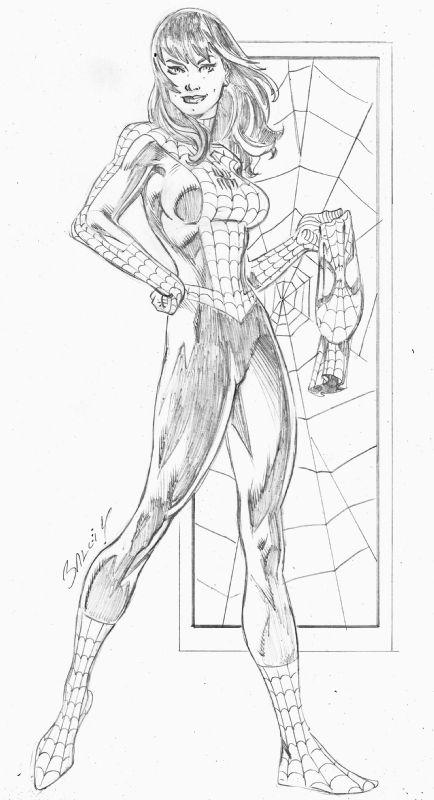 Spidey MJ by Mark Bagley Comic Art