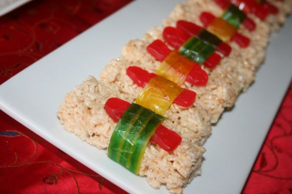 rice krispy sushi...that's just way too awesome.