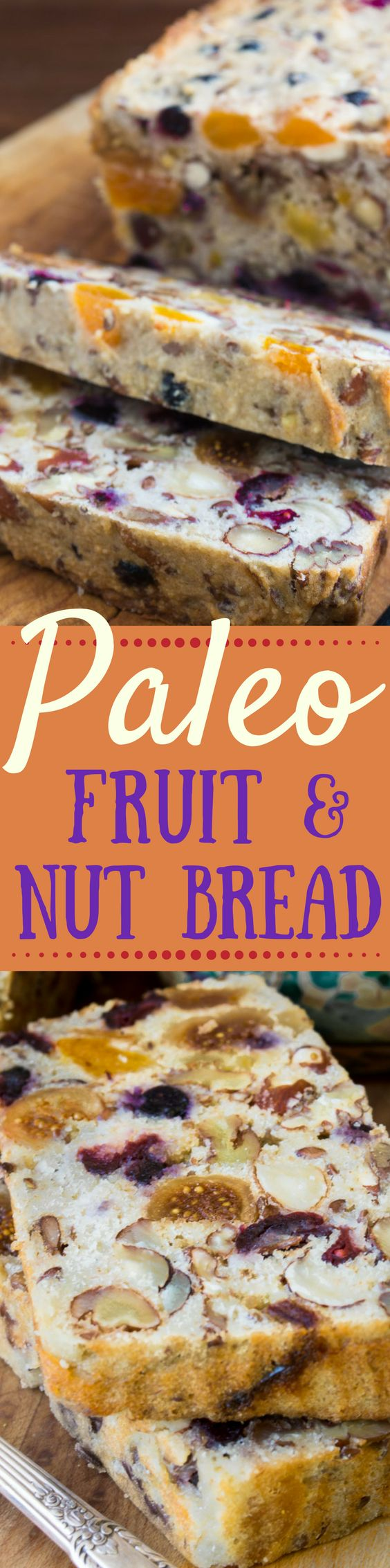 This Paleo Fruit and Nut Bread is grain, sugar, and dairy free. It's also amazingly versatile, and fabulous toasted! ~ theviewfromgreatisland.com