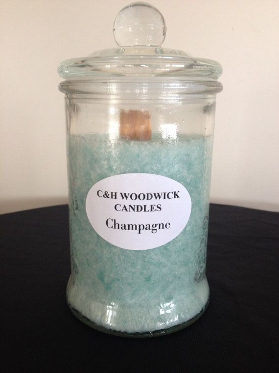 Champagne Woodwick Palm wax candle by ChristalClean on Etsy