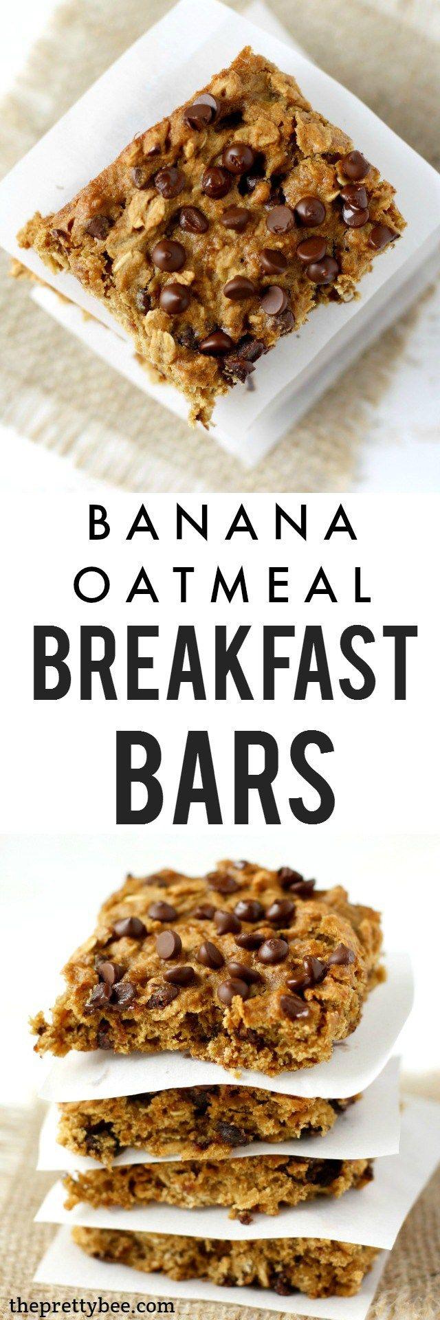 Oatmeal breakfast bars, Breakfast bars and Chocolate oatmeal on ...