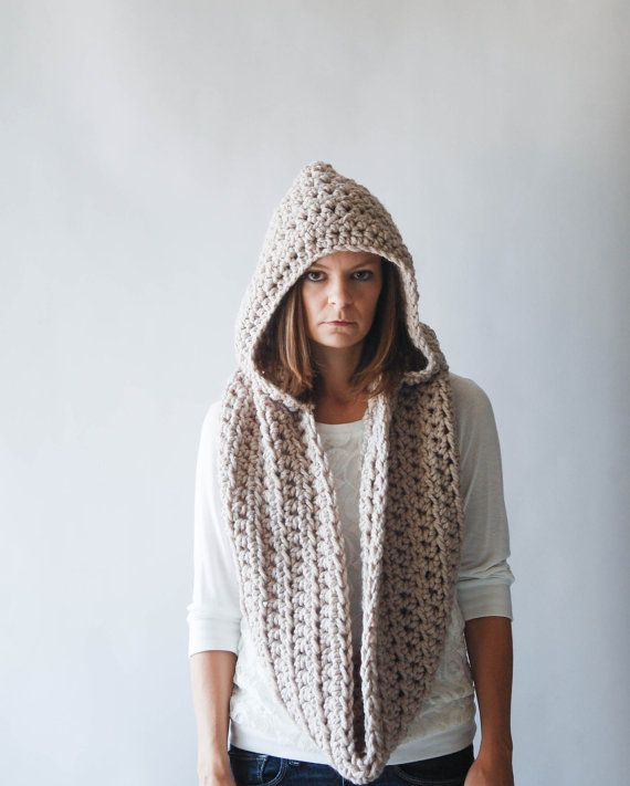 69 best Crochet Hooded Scarves images on Pinterest | Crochet hooded ...