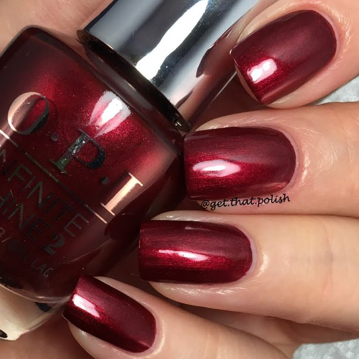 Celebrate in style with Preen.Me VIP Luciana's mani using her gifted OPI #InfiniteShine 2 Icons Nail Lacquer in I'm Not Really a Waitress. Make it yours by clicking through.