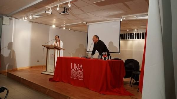 In the auditorium at the National University Costa Rica, San Jose, baba speaks on Mindfulness for Academic Excellence, Prof. Rodolfo, Philosophy dept. translates into spanish. He also translated baba's book Your Mind Your Best Friend in Spanish available on Amazon.com