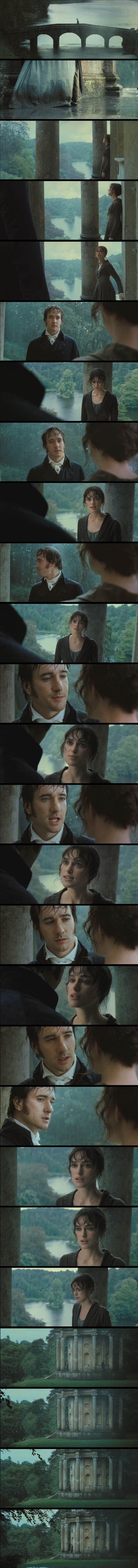 Darcy's first proposal - at the Temple of Apollo (Stourhead Garden, Warminster, Wiltshire, England, UK) Pride & Prejudice (2005) #janeausten #joewright