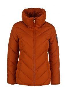 Пуховик FiNN FLARE, цвет: коричневый. Артикул: FI001EWDER32. Женская одежда / Верхняя одежда / Пуховики и зимние куртки