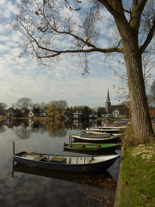 Broek in Waterland has little wooden houses in lush gardens, and a church tower peeping up above the lake.