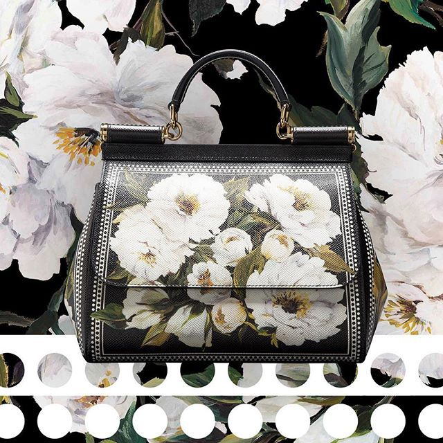 The beauty of flowers graces the timeless #DGSicilyBag in the special Ala Moana Boutique Collection #DGLovesAlaMoana