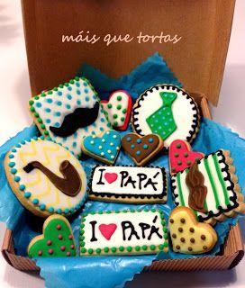 MÁIS QUE TORTAS: Cajita de galletas para PAPÁ un regalo muuyyy dulce :))