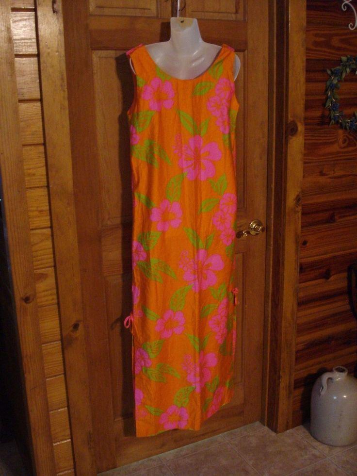 1960's Hawaiin Dress Fashions of Hawaii size M NICE! | eBay