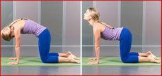 Rugpijn beïnvloed bijna iedereen op een bepaald moment en een gebrek aan lichaamsbeweging kan de aandoening verergeren. Deze houding is een combinatie van twee houdingen uitgevoerd in een vloeiende beweging van de ene in de andere positie en weer terug. Het rekt de rug- heup en buikspieren en versterkt de rug en nek. Het is ook een ontspannen houding om de spanningen van de dag te verlichten. Zorg ervoor dat je nek in de kat positie (met de bolle rug) naar beneden is en kijk in de koe (met…