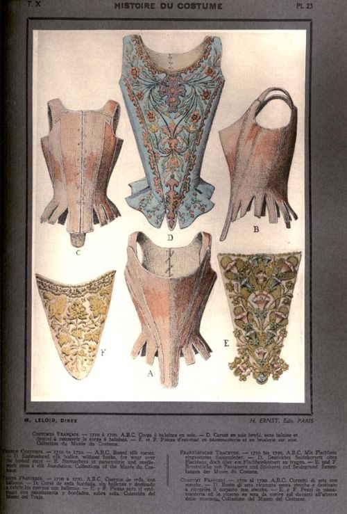 18th century stays/corsets...