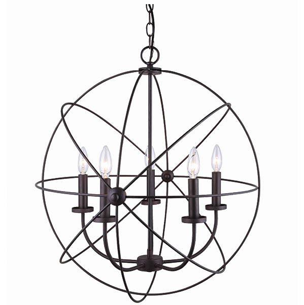 Sumerside ICH282B05ORB25 Suspension 5 lumières Bronze Huilé