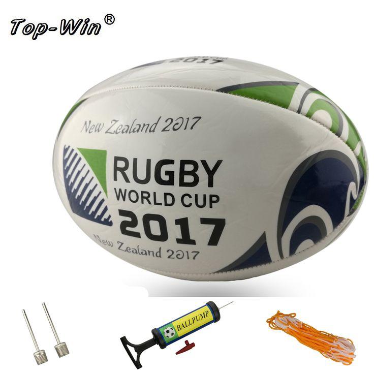 Baru 2017 Ukuran 5 # Rugby Bola Standar Bola Untuk Pertandingan Bola Pelatihan Sepak Bola sepak bola amerika dengan pompa