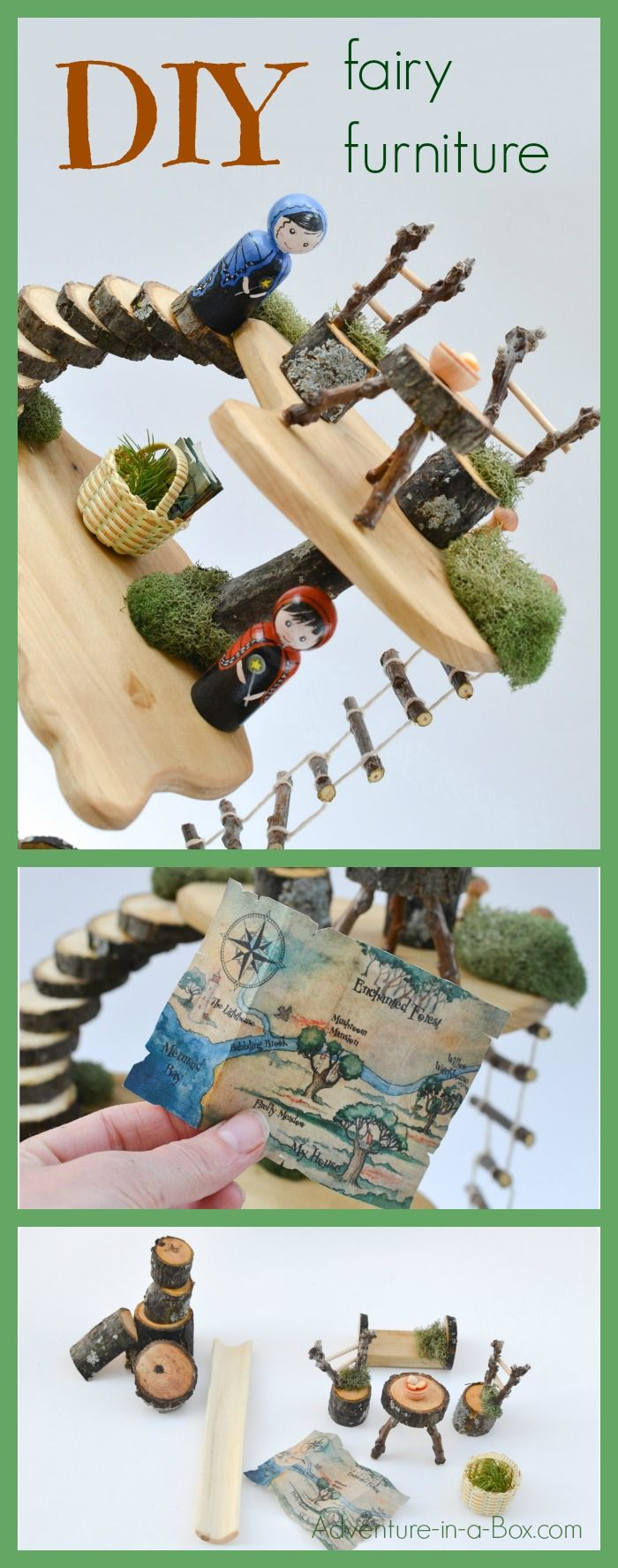 DIY Fairy Furniture: build homemade toyhouse furniture from natural materials. Pefect for Waldorf-inspired classrooms and playrooms!