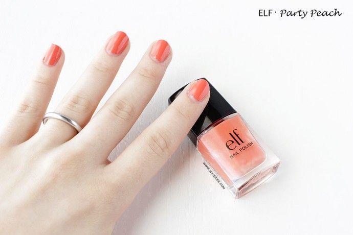 Review Smalto elf Party Peach - Per una nail art arancione