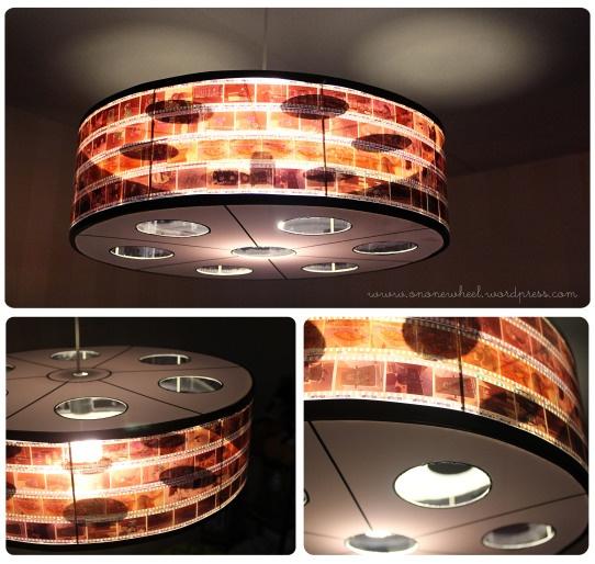 DIY Film Reel Lampshade out of Film Strips | Film Lamp