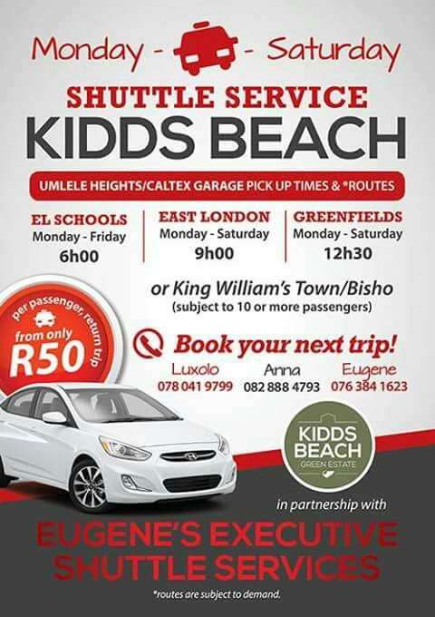Kidds Beach Shuttle Service